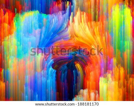 Colors In Bloom series. Backdrop composed of fractal color textures and suitable for use in the projects on imagination, creativity and design