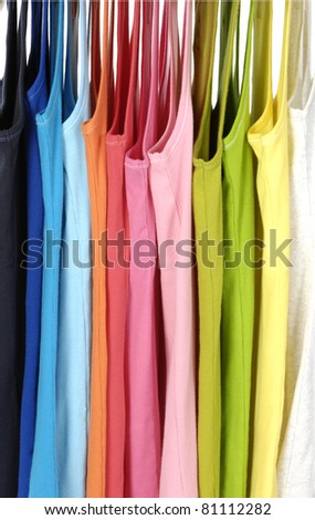 Colors of rainbow casual peignoir hangers background