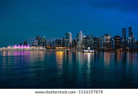 Colors of the Skyline seen from Stanley Park in Vancouver