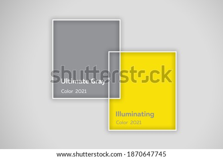 Colors yellow and gray , Color og the year of 2021 Illuminating , Ultimate Grey