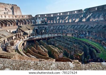 Coloseum of Rome inside