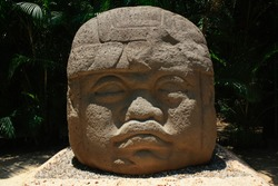 Colossal Head, Olmec Mexican Culture