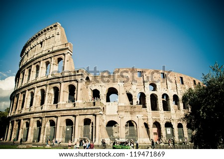 Colosseum Amphitheater, Rome, Italy