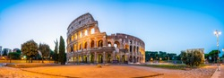Colosseum at dawn in Rome. Italy
