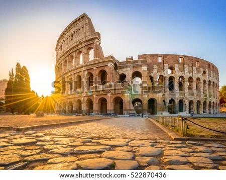Colosseum at sunrise, Rome