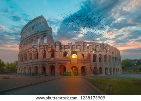 Colosseum in Rome - Colosseum is the best famous known architecture and landmark in Rome, Italy