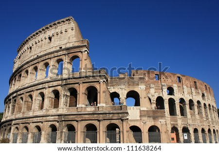 Colosseum in Rome, Italy. Ancient architecture ストックフォト ©