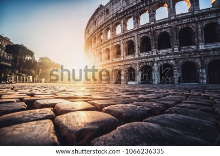 colosseum in rome  italy at...