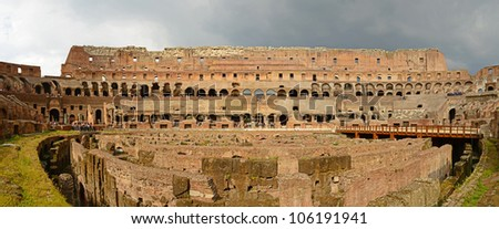 Colosseum in Rome, Italy, Panorama view