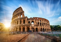 Colosseum in Rome, Italy - World famous travel destination.