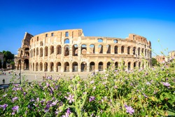 Colosseum in Rome, landmark of Lazio, Italy