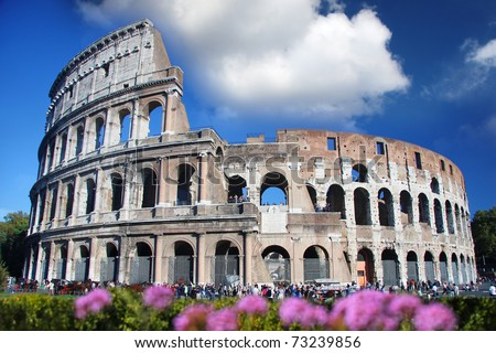 Colosseum in spring time,  Rome, Italy