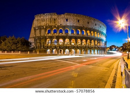 Colosseum in Twilight - stock photo