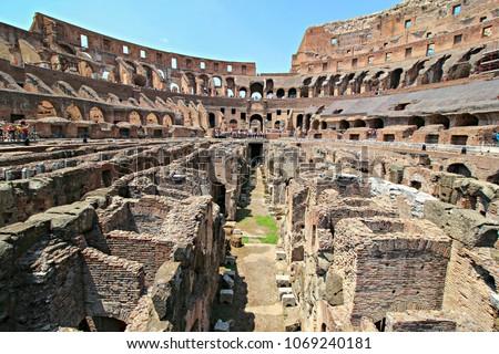 Colosseum inside, Rome