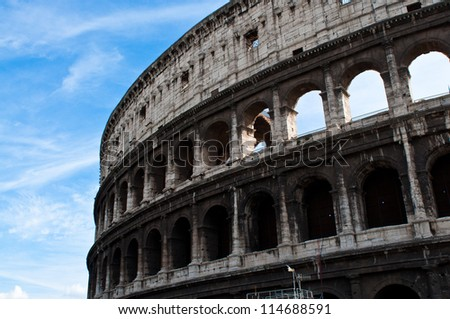 Colosseum of Rome, Italy