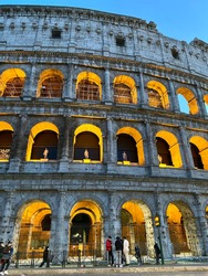 colosseum on a winter day