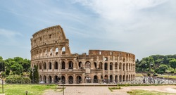 Colosseum or Coliseum, also known as the Flavian Amphitheatre, in Rome, Italy