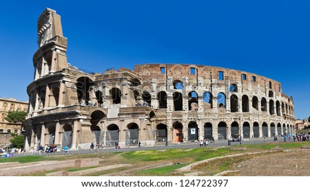 Colosseum -The Flavian Amphitheater in Rome, Italy