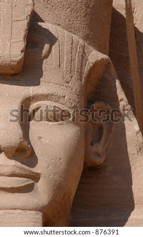 colossi of Ramses II in front of the Sun Temple of Abu Simbel near Aswan, Egypt