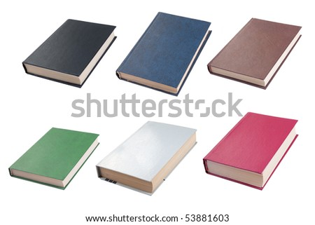 Colour books isolated on white