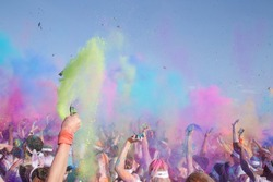 colour burst of powder