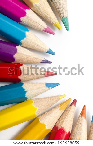 Colour pencils with different color