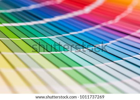 Colour swatches book. Rainbow sample colors catalogue. #1011737269