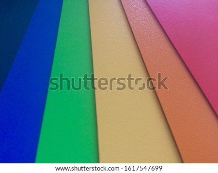 Colour swatches book. Rainbow sample colors catalogue. Trendy color design palette for spring and summer season