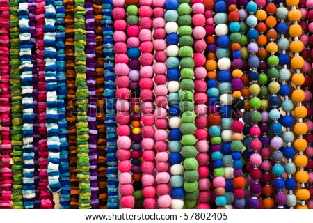 coloured beads - stock photo