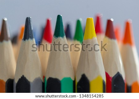 Coloured pencils. Best colored pencil sets for coloring book enthusiasts and professional artists. Coloured pencils background.