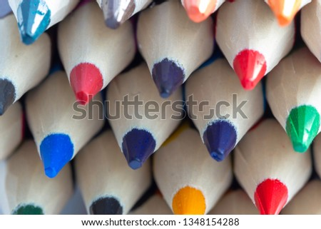 Coloured pencils. Best colored pencil sets for coloring book enthusiasts and professional artists. Coloured pencils background.  #1348154288