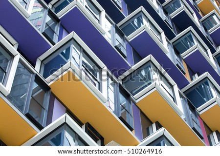 Colourful Architecture Detail #510264916