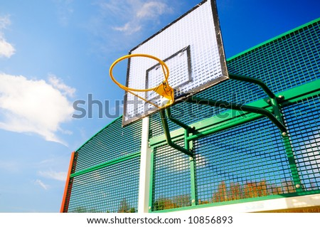 Colourful Basketball hoop