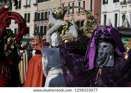 Colourful carnival costumes at Venice Carnival #1298333077