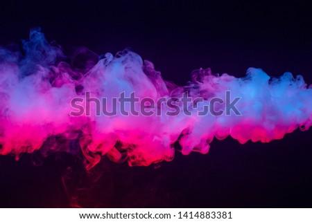 Colourful cloud of vapor. dark black background. nobody Foto d'archivio ©