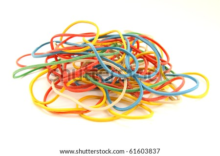 colourful elastic bands