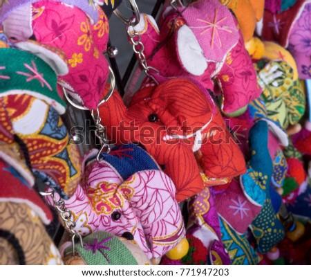 Colourful Elephant Toy Keychains #771947203