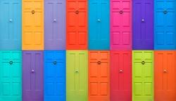 Colourful English Doors
