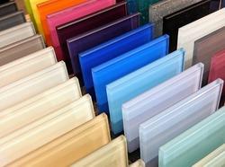 Colourful Glass Samples - Kitchen Splashback samples