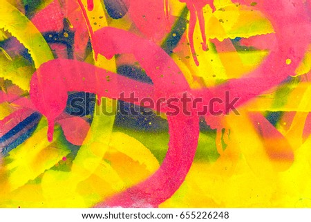 colourful graffiti. closeup...