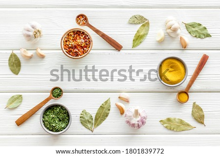 Colourful herbs spices and flavoring for cooking Stock photo ©