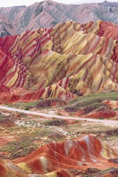 Colourful hills and an interesting relief