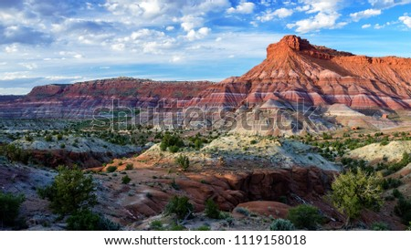 Colourful Hills  in Old Paria Townsite, Grand Staircase-Escalante National Monument, Utah