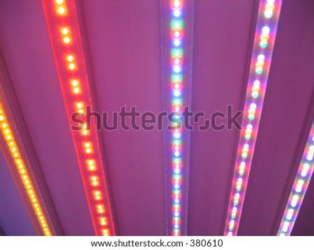 Colourful LED light stripes