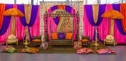 Colourful mehni henna stage party