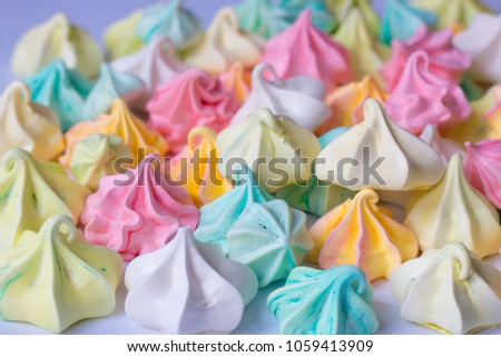 Colourful Meringue colored meringues many different sweet Сток-фото ©