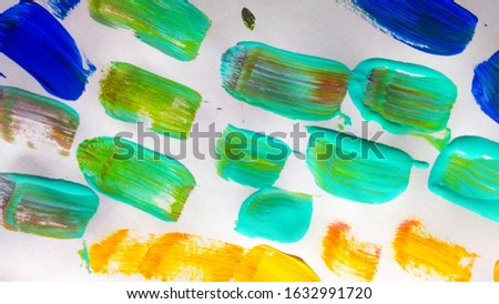 Colourful Paintings Art. Colour Brushes. Water Paint Beauty.  Colored Oil Painting Image. Colorful Pattern Grunge Texture. Coloured Paint Texture.