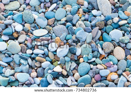 colourful pebble texture #734802736