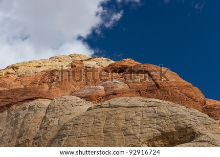 Colourful rocks in Red Rock Canyon State Park, Nevada, USA