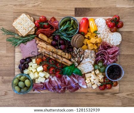 Colourful savoury food platter